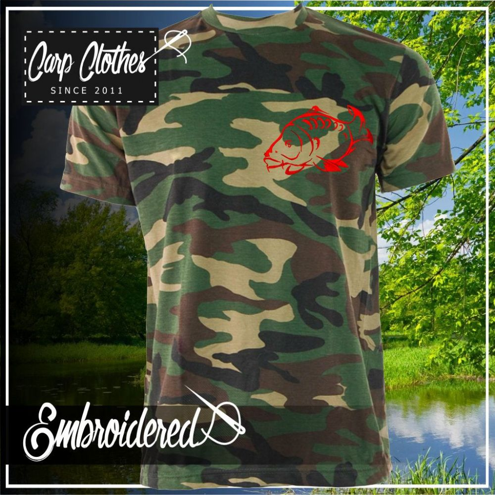 001 EMBROIDERED CAMO T SHIRT
